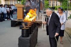 טקס יום השואה בגימנסיה מאי 2019